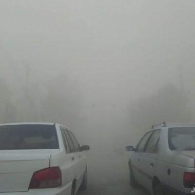وحشت در جاده های جنوب شرقی کشور/ جاده با طوفان شن بسته شد