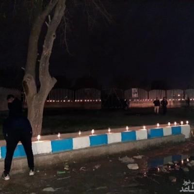 (فیلم) شام غریبان برای قربانیان سقوط هواپیما اوکراین در محل حادثه