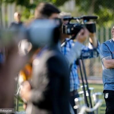 (عکس) تصویری از بادیگارد ویلموتس در تمرین تیم ملی