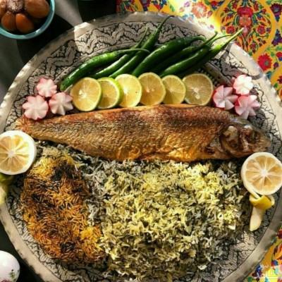طرز تهیه سبزی پلو با ماهی و والک پلو