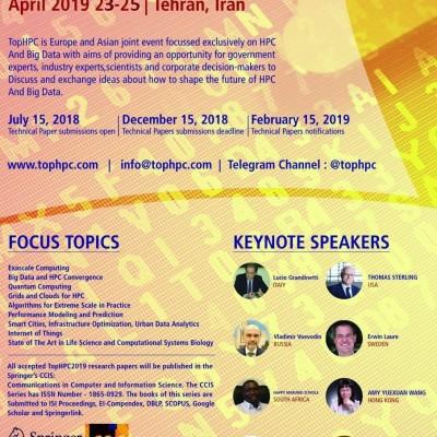 چهاردهمین کنگره بین المللی سیستم های کلان مقیاس محاسباتی و تحلیل کلان داده تحت عنوان  TOPHPC2019