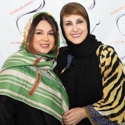 شهره سلطانی و فاطمه گودرزی با گریم حاجی فیروزی