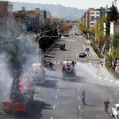 (تصاویر) ضد عفونی محلات جنوب شرق تهران