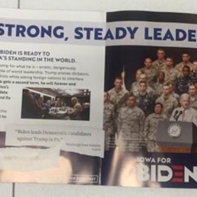 تصویر رهبری و روحانی روی جزوه تبلیغاتی آمریکا