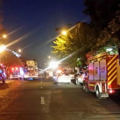آتشسوزی گسترده در ضلع شرقی پلاسکوی قدیم