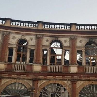 آخرین وضعیت میدان حسن آباد بعد از آتشسوزی