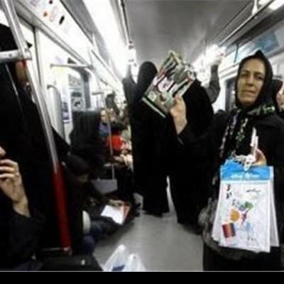 پخش تبلیغات عجیب و ۱۸+ در مترو تهران