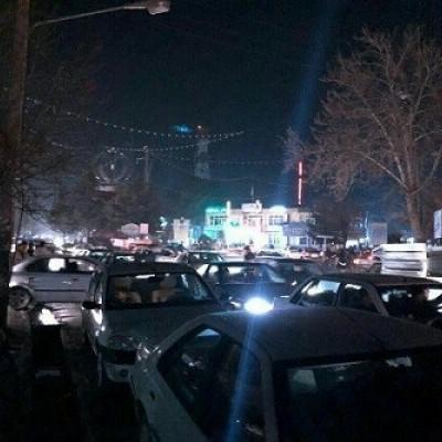 هجوم مردم سلماس به خیابان بعد از زلزله