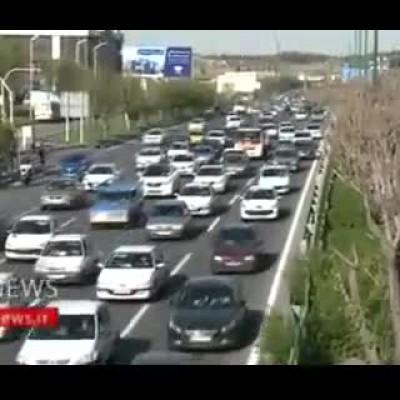 (فیلم) ترافیک نگران کننده بزرگراه شهید همت / مردم خطر کرونا را فراموش کردند؟