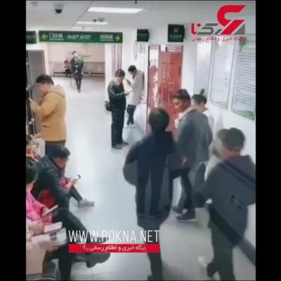 (فیلم) هیچ کس از دیدن این صحنه خجالت نکشید / اقدام فداکارانه یک مرد برای همسرش