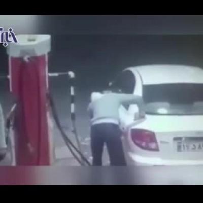 (فیلم) عاقبت بنزین دزدی در اندیمشک!
