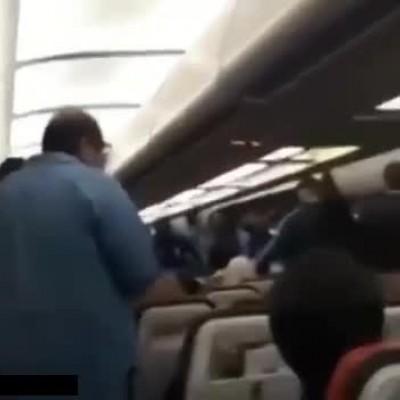 (فیلم) مشاجره مسافران هواپیما و بازیکنان استقلال