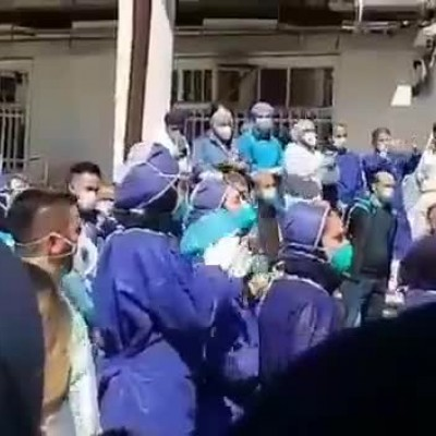 (فیلم) شادیِ جمعیِ پرستاران بیمارستان رازی رشت