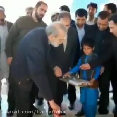 (فیلم) حضور لاریجانی در میان سیلزدگان جنجالی شد