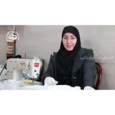 (فیلم) ابتکار زن گیلانی برای مبارزه با کرونا