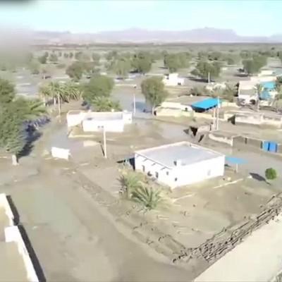 (فیلم) تصاویر تکاندهنده از مناطق سیل زده هرمزگان
