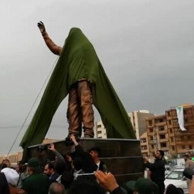 (فیلم) تندیس سردار سلیمانی در اهواز رونمایی شد
