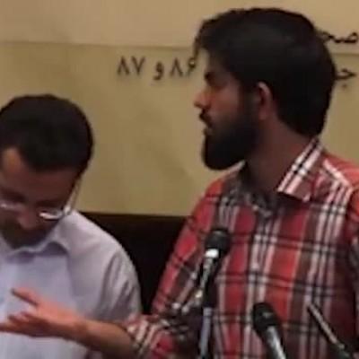 (فیلم) مجادله یک دانشجو با رییس دستگاه قضا