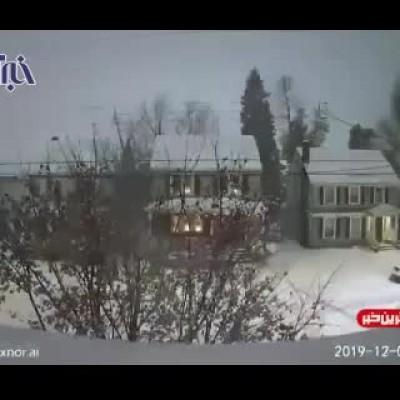 (فیلم) تایم لپسی دیدنی از بارش 3 روزه برف در نیویورک