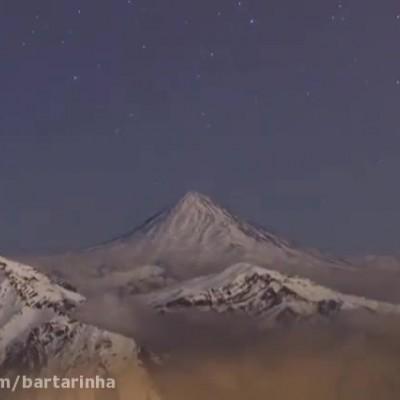 ویدئوی فوقالعاده دیدنی از دماوند در زمستان