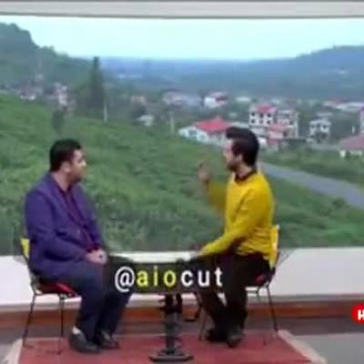 (فیلم) رفتار عجیب مجری با مهمان برنامه در پخش زنده تلویزیون!