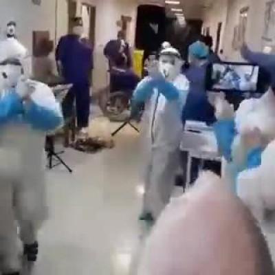 (فیلم) غوغای دیجیِ ساروی با آهنگ معین در بیمارستان